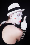 Theater actor with mime makeup Stock Images
