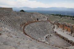 Theater - alte griechisch-romanische und byzantinische Stadt von Hierapolis Lizenzfreie Stockfotos