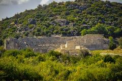 Theater alter Stadt Patara in Kas, Antalya, die Türkei Lycian-Kultur stockbilder