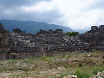Theater of the ancient city of Tlos Fethiye stock photo