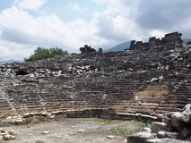 Theater of the ancient city of Tlos Fethiye stock image