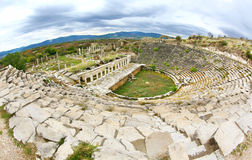 Theater of ancient greek city of Aphrodisia, Turkey Royalty Free Stock Photo
