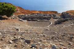 Theater of Ancient Thira Stock Photography
