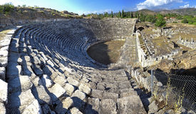 The Theater at Aphrodisias was highly advanced for its time. The Royalty Free Stock Photos