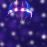 Theater art with disco ball and stage lights Royalty Free Stock Photography