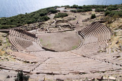 Theater in Assos Royalty Free Stock Photography