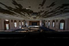 Theater / Auditorium - Abandoned Laurelton State School & Hospital - Pennsylvania Stock Images