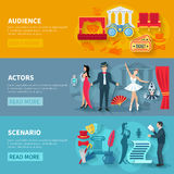 Theater Banner Set Royalty Free Stock Photography