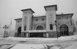 The theater of Bardonecchia stock images