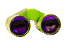 Theater binocular distance zoom green toy isolated Royalty Free Stock Images