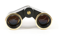 Theater black binoculars front Stock Photo