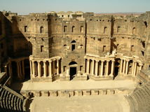 Theater in Bosra, Syria Royalty Free Stock Photo