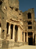 Theater in Bosra, Syrien lizenzfreie stockbilder