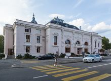 Theater building in Yverdon-les-Bains,Switzerland royalty free stock image