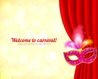 Theater and carnival background with mask Royalty Free Stock Images