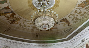 Theater ceiling with chandelier Stock Photos