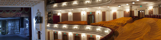 Theater ceiling with chandelier Royalty Free Stock Photography