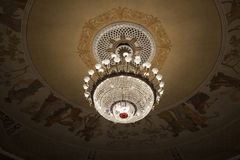 Theater ceiling with chandelier Stock Images