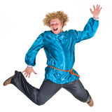 Theater character in costume royalty free stock photo