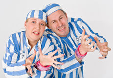 Theater characters - Criminals Royalty Free Stock Photography