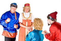 Theater characters - suitors stock photos