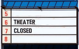 Theater Closed - 5 6 7 8 royalty free stock photography