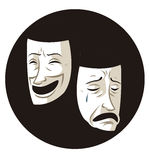 Theater comedy and drama masks Royalty Free Stock Photography