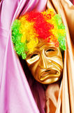 Theater concept - masked actor Royalty Free Stock Image