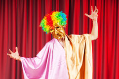Theater concept - masked actor Royalty Free Stock Photos