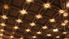 Theater and Concert Hall Ceiling with Retro Flashing Marquee Lights in Downtown 1080p stock video