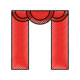 Theater courtain isolated icon Stock Images