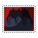 Theater courtain show icon Stock Photos