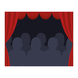 Theater courtain show icon Stock Images