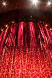 Theater Curtain. A velvet red theater curtain with traces of gold Royalty Free Stock Image