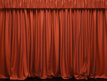 Theater curtain. Royalty Free Stock Photos