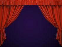 Theater curtain. Royalty Free Stock Image