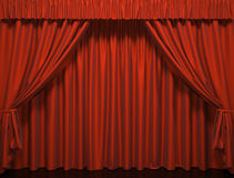 Theater curtain. Presentation. A Movies Royalty Free Stock Image