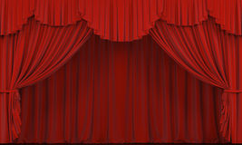 Theater curtain. Presentation. A Cinema Stock Photography