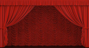 Theater curtain. Royalty Free Stock Photography