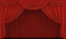 Theater curtain. Stock Photography