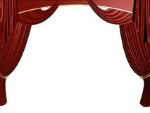 Theater curtain Royalty Free Stock Photos