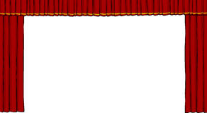 Theater curtain. On white background vector Stock Photography