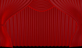 Theater Curtain Royalty Free Stock Photography
