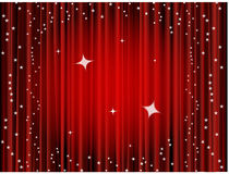 Theater curtain background, movie curtain Stock Photography