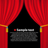 Theater curtain background. Vector Stock Photography
