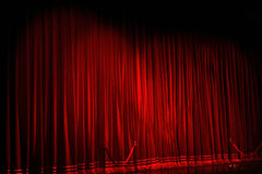 Theater curtain Royalty Free Stock Photo