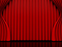 Theater curtain. 3d high quality render Royalty Free Stock Photography