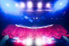 Theater curtain with dramatic lighting Stock Photography