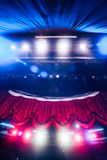 Theater curtain with dramatic lighting Stock Photos