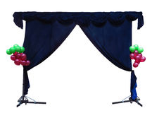 Theater curtain isolated Stock Image